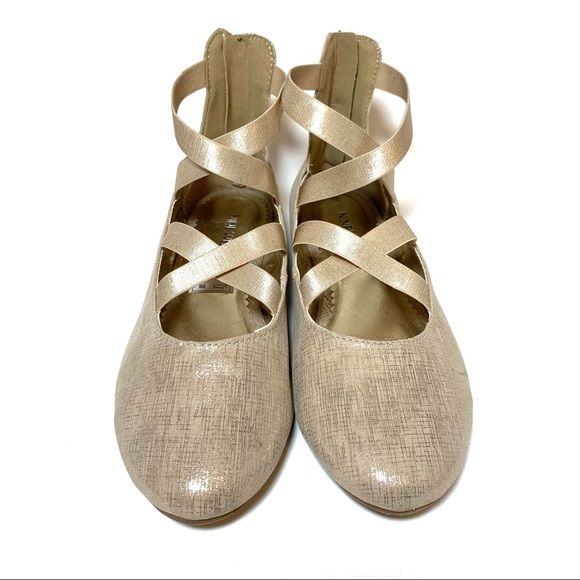 Nine West Feliciah Ballet Flats Gold Metallic 5